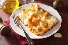Homemade italian lasagna on plate Stock Photo