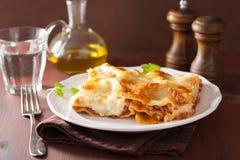 Homemade italian lasagna on plate Royalty Free Stock Image