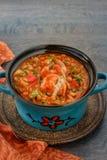 Homemade italian lentil stew Stock Images