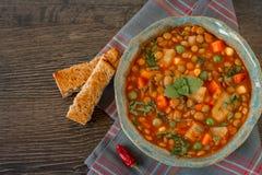 Homemade italian lentil stew Stock Photos