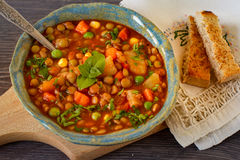 Homemade italian lentil stew Stock Photography