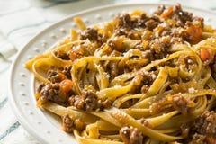 Homemade Italian Ragu Sauce and Pasta. With Cheese Royalty Free Stock Image