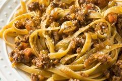 Homemade Italian Ragu Sauce and Pasta. With Cheese Stock Image