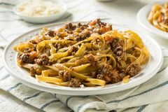 Homemade Italian Ragu Sauce and Pasta. With Cheese Royalty Free Stock Images