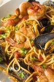 Homemade Italian Seafood Pasta stock image