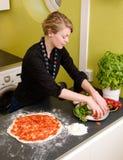 Homemade Italian Style Pizza Stock Photos