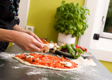 Homemade Italian Style Pizza Royalty Free Stock Photography