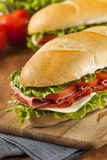 Homemade Italian Sub Sandwich Stock Photos