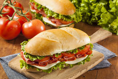 Homemade Italian Sub Sandwich Royalty Free Stock Photos