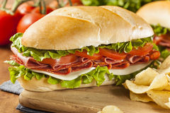 Homemade Italian Sub Sandwich Royalty Free Stock Photography