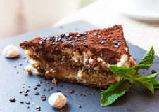 Homemade italian tiramisu cake Royalty Free Stock Photography