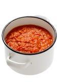 Homemade italian tomato sauce Stock Image