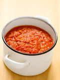 Homemade italian tomato sauce Royalty Free Stock Photos