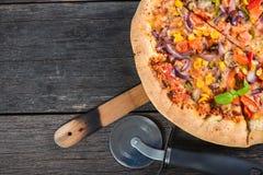 Homemade italian vegetarian pizza Stock Photo