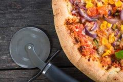Homemade italian vegetarian pizza Royalty Free Stock Photos