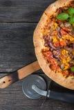 Homemade italian vegetarian pizza Royalty Free Stock Images
