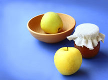 Homemade jam on apple Royalty Free Stock Photos