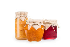 Homemade jam isolated Royalty Free Stock Images