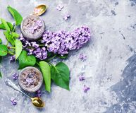 Homemade jam from the lilac Stock Photography