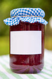 Homemade jam in pot Stock Photo