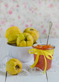 Homemade jam from a quince Stock Images