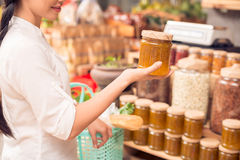 Homemade jam in supermarket Stock Photography