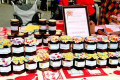 Homemade Jams, Carnival, Derbyshire. Stock Images