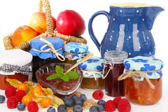 Homemade jams Royalty Free Stock Photography