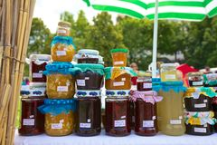 Homemade jams Stock Photos