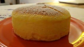 Homemade Japanese cheesecake Stock Image