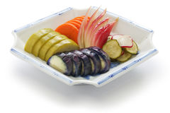 Homemade japanese pickles, tsukemono Royalty Free Stock Photos