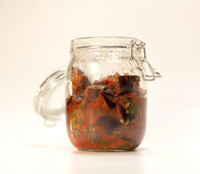 Homemade jar for canning Royalty Free Stock Photo