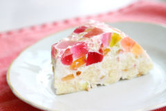 Homemade jelly cake Royalty Free Stock Image