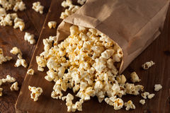Homemade Kettle Corn Popcorn Stock Photography
