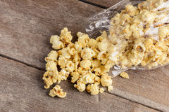 Homemade Kettle Corn Popcorn in a Bag Royalty Free Stock Image