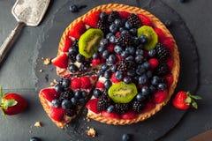 Homemade Key Lime Fruit Tart Stock Image