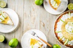 Homemade key lime pie stock photo