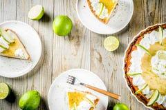 Homemade key lime pie stock image