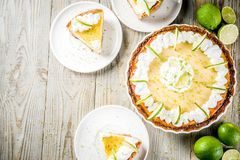 Homemade key lime pie royalty free stock images