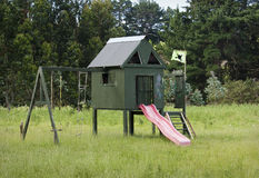 Homemade kids playhouse Stock Photography