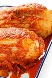 Homemade kimchi, korean food. Homemade kimchi(napa cabbage), korean traditional food Stock Photography