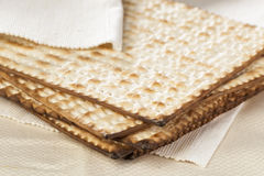 Homemade Kosher Matzo Crackers Royalty Free Stock Photos