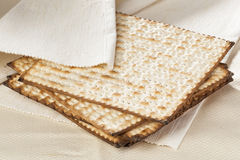 Homemade Kosher Matzo Crackers Stock Photos