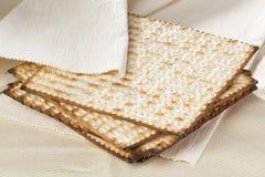 Homemade Kosher Matzo Crackers stock photos