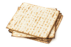 Homemade Kosher Matzo Crackers Stock Photo