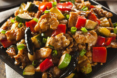Homemade Kung Pao Chicken. With Peppers and Veggies Stock Images