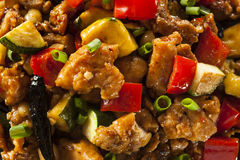 Homemade Kung Pao Chicken. With Peppers and Veggies Royalty Free Stock Photo