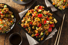 Homemade Kung Pao Chicken. With Peppers and Veggies Stock Photo