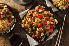 Homemade Kung Pao Chicken Stock Photo