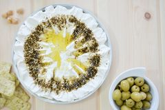 Homemade labneh labaneh stock images